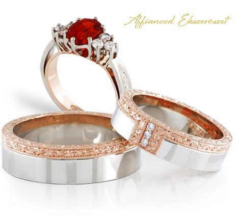 Affianced karikagyűrű, eljegyzési gyűrű