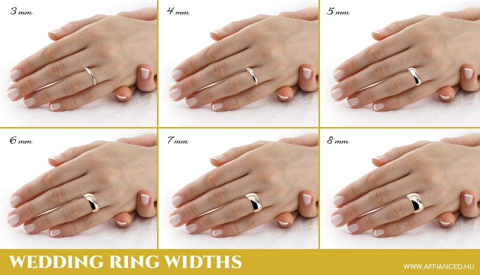Wedding ring widths