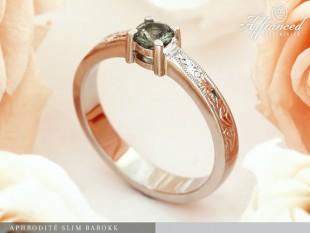 Aphrodite Slim Barokk - eljegyzési gyűrű