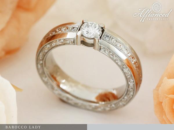 Barocco Lady - eljegyzési gyűrű