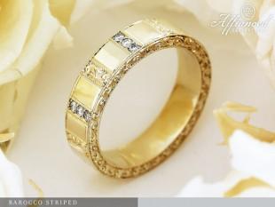 Barocco Striped - eljegyzési gyűrű