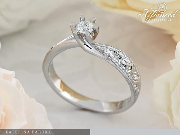 Katerina Barokk - eljegyzési gyűrű