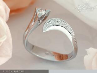 Liliom Barokk - eljegyzési gyűrű