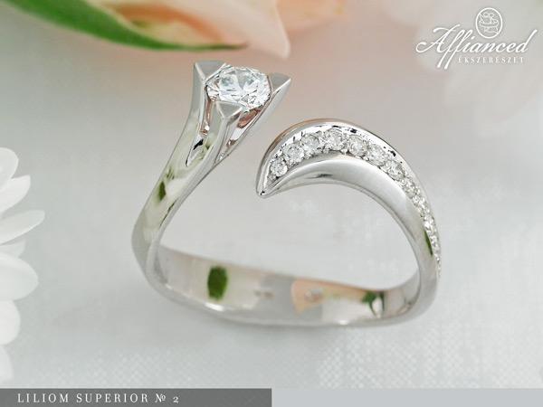 Liliom Superior №2 - eljegyzési gyűrű