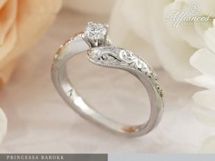 Princessa Barokk - eljegyzési gyűrű