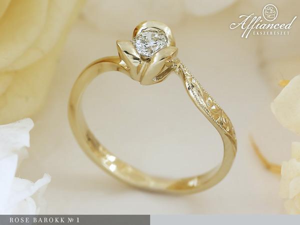 Rose Barokk №1 - eljegyzési gyűrű