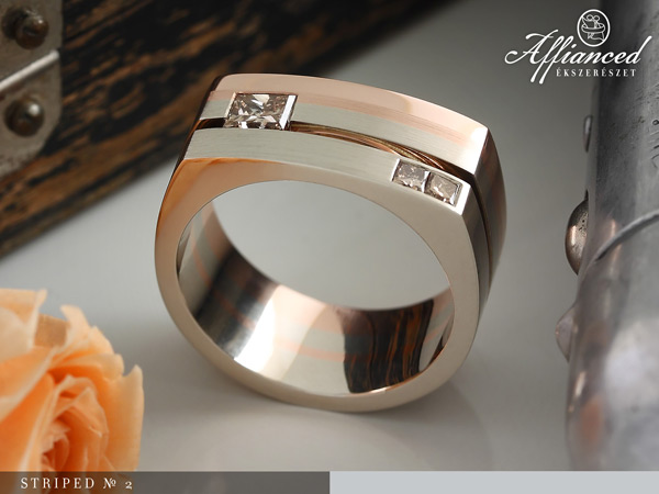 Striped №2 - férfi gyűrű