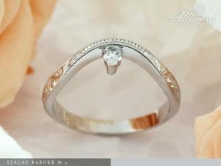 Szalag Barokk №2 - eljegyzési gyűrű
