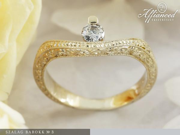 Szalag Barokk №3 - eljegyzési gyűrű
