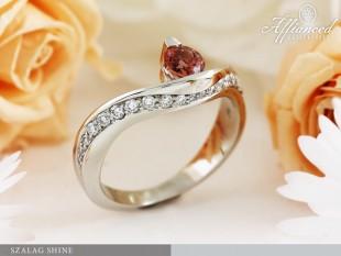 Szalag Shine - eljegyzési gyűrű