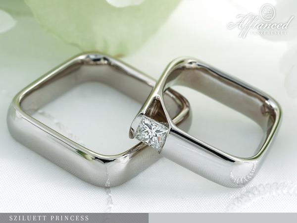 Sziluett Princess - karikagyűrű