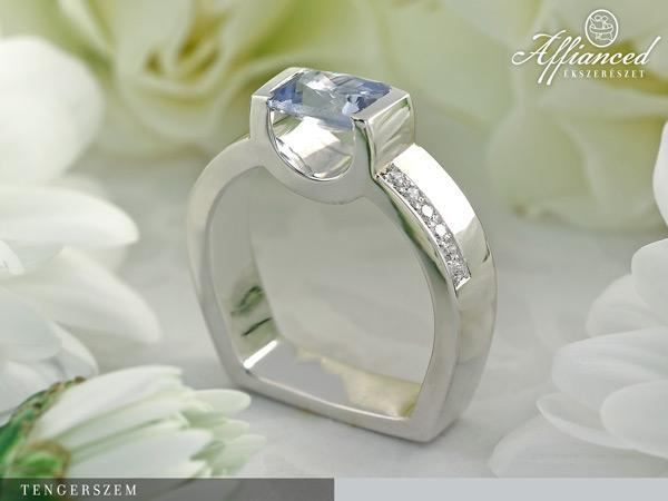 Tengerszem - eljegyzési gyűrű