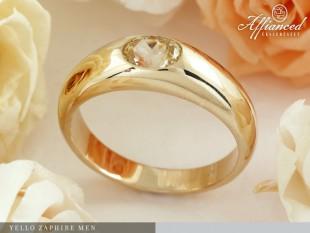 Yellow Zaphire Men - férfi gyűrű