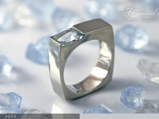 Aqua - női gyűrű