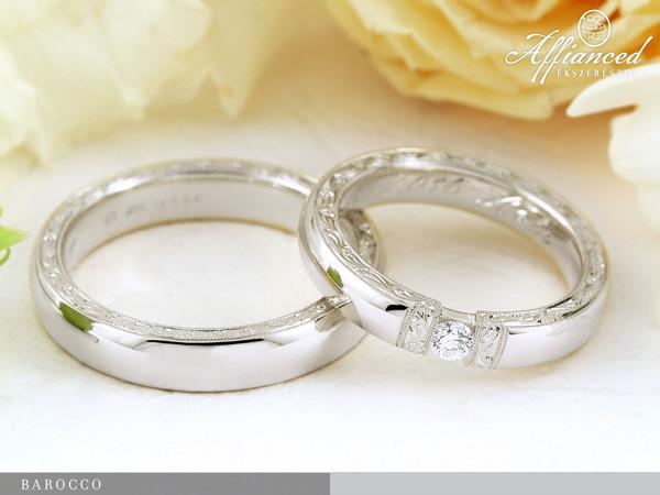 Barocco - karikagyűrű pár