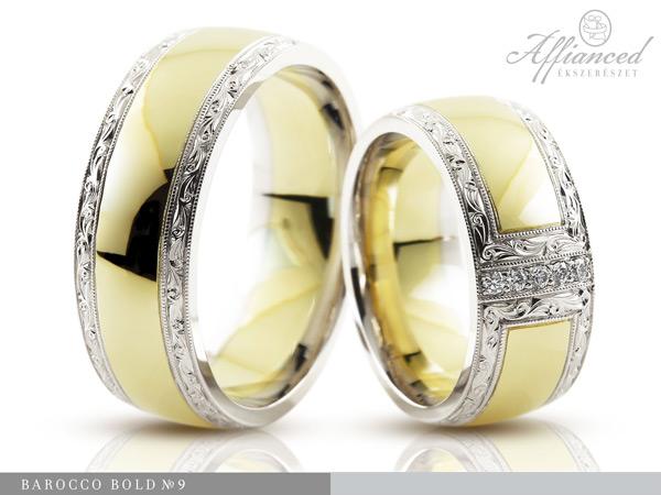 Barocco Bold no9 - karikagyűrű pár