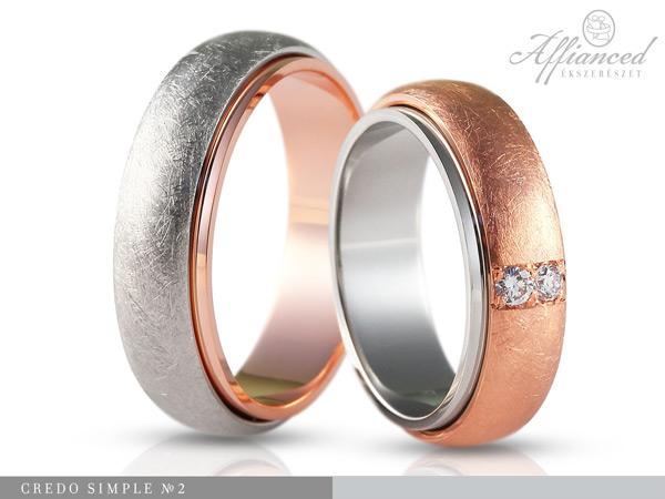 Credo Simple no2 - karikagyűrű pár