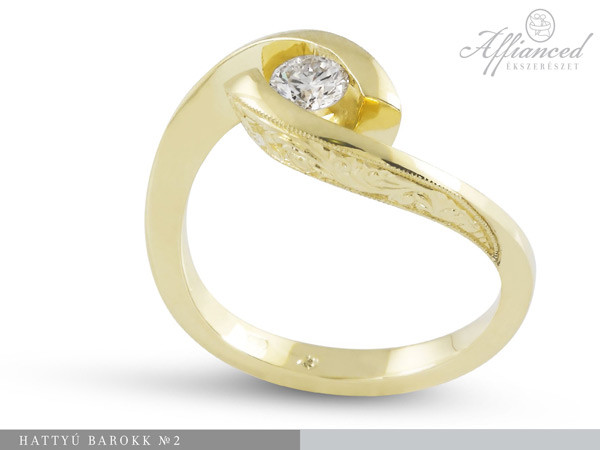 Hattyú Barokk - eljegyzési gyűrű