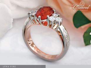 Léna Fire - eljegyzési gyűrű