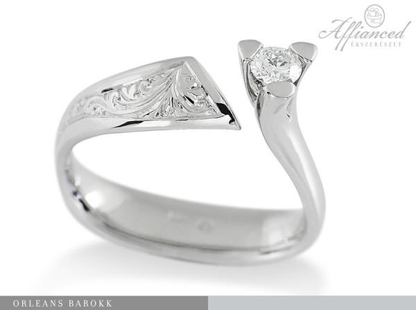 Orleans Barokk - eljegyzési gyűrű