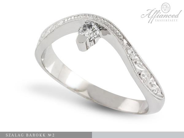 Szalag Barokk - eljegyzési gyűrű