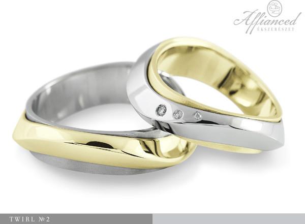 Twirl no2 - karikagyűrű pár
