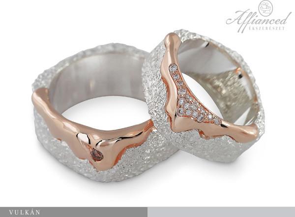 Vulkán - karikagyűrű pár