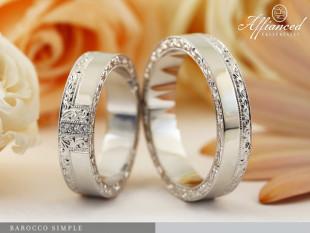 Barocco Simple - karikagyűrű pár
