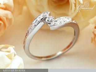 Bayleaf Barokk - eljegyzési gyűrű