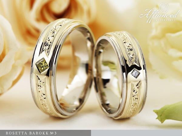 Rosetta Barokk no3 - karikagyűrű pár