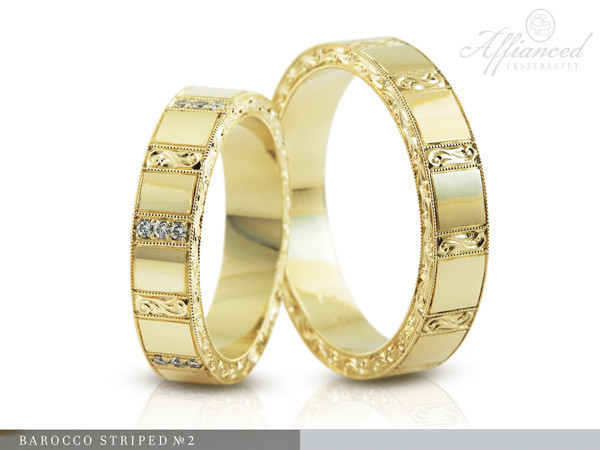 Barocco Striped - no2 - karikagyűrű