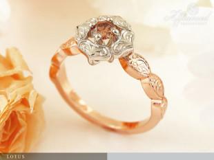 Lotus - eljegyzési gyűrű