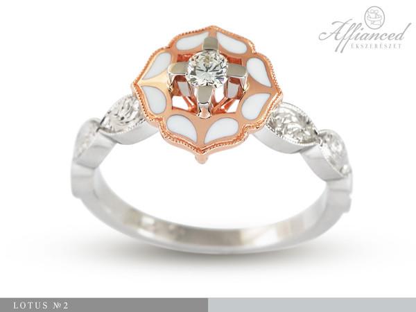 Lotus no2 - eljegyzési gyűrű