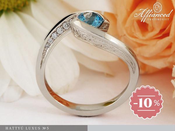 Hattyú Luxus no5 - eljegyzési gyűrű
