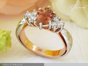 Léna Turmalin - eljegyzési gyűrű