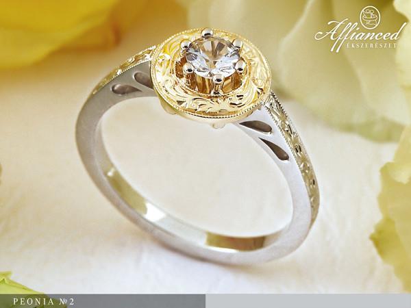Peonia no2 - eljegyzési gyűrű