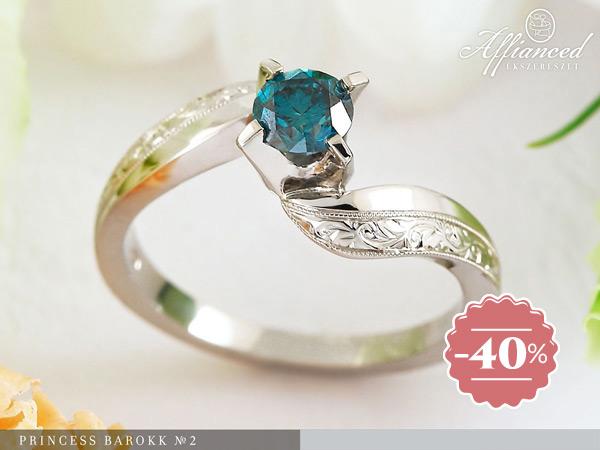Princess Barokk no2 - eljegyzési gyűrű