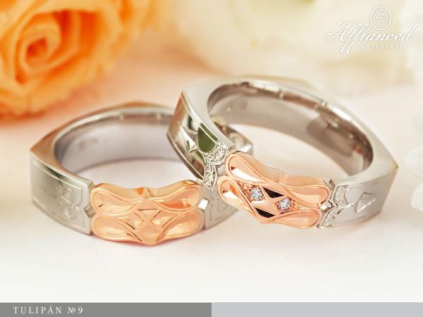 Tulipán no9 - karikagyűrű pár