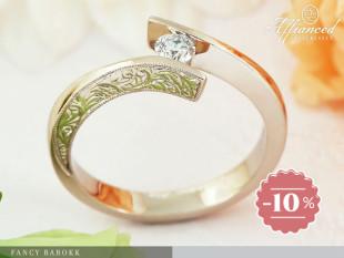 Fancy Barokk - eljegyzési gyűrű
