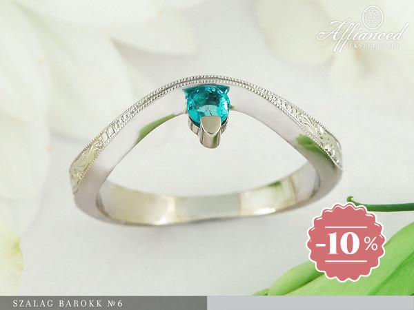 Szalag Barokk no6 - eljegyzési gyűrű