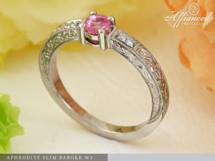 Aphrodité Slim Barokk no3 - eljegyzési gyűrű