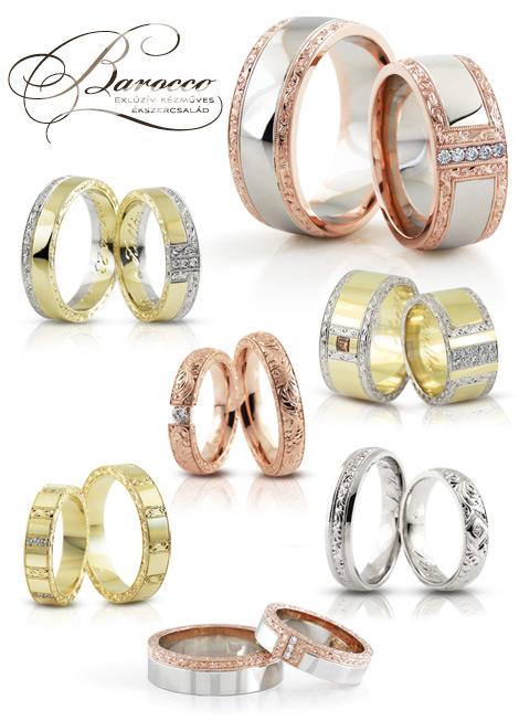 Barocco kézműves karikagyűrű kollekció