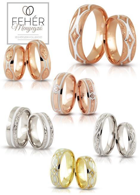 Fehér Menyegző karikagyűrűk