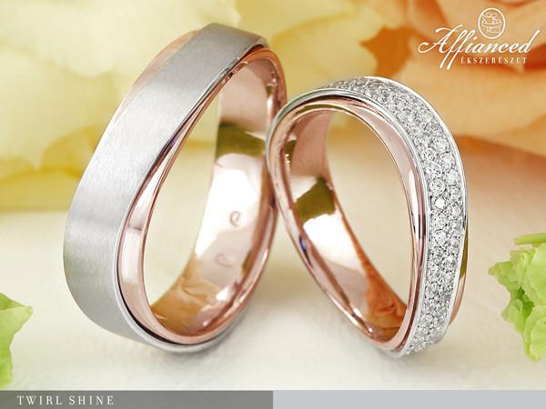 Twirl Shine - karikagyűrű pár