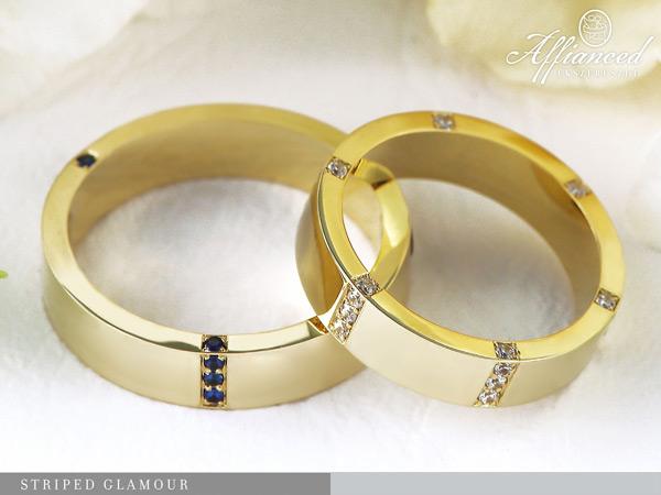 Striped Glamour - karikagyűrű pár