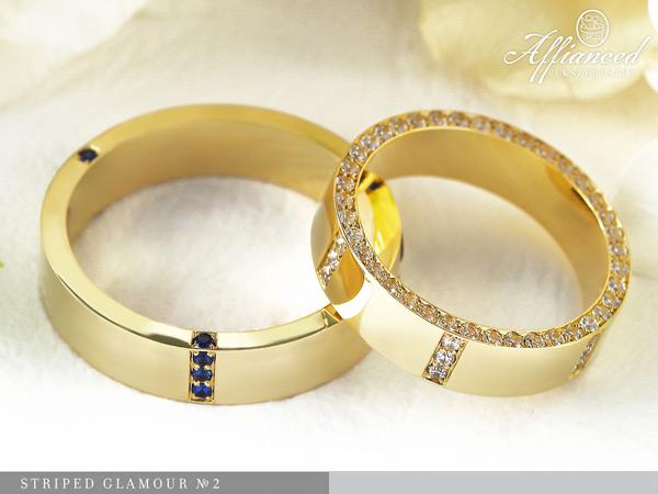 Striped Glamour no2 - karikagyűrű pár