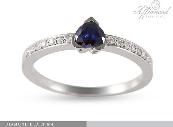 Diamond Heart no4 - eljegyzési gyűrű