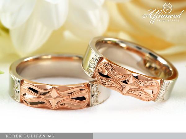 Kerek Tulipán no2 - Karikagyűrű pár