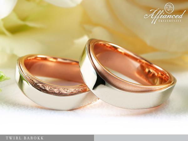 Twirl Barokk - Karikagyűrű pár