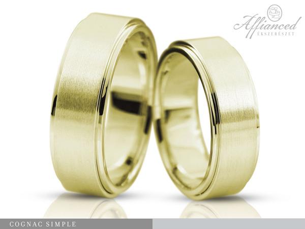 Cognac Simple - Karikagyűrű pár